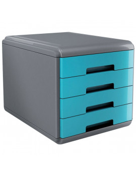 Cassettiera My Desk Arda - 29,5x38,5x28,2 cm - Turchese