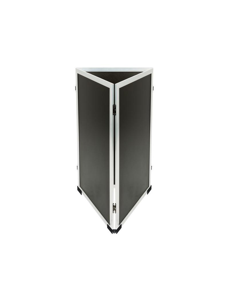 Lavagna Multiboard Securit - 125x70 cm - 125x70 cm - Nero - Argento