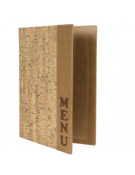 Portamenu Carta Vini Cork Securit - A4 - 1,2 cm