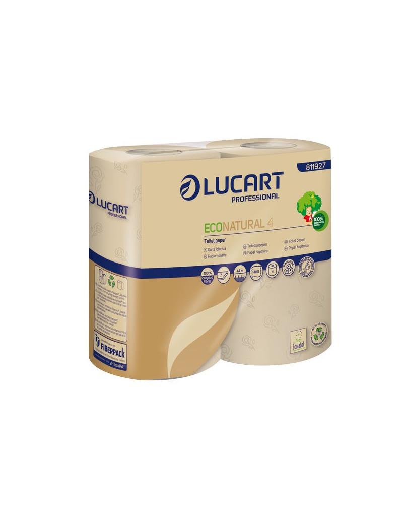 Eco Natural Lucart - Rotolo - 2 Veli - 400 Strappi (Conf. 4)