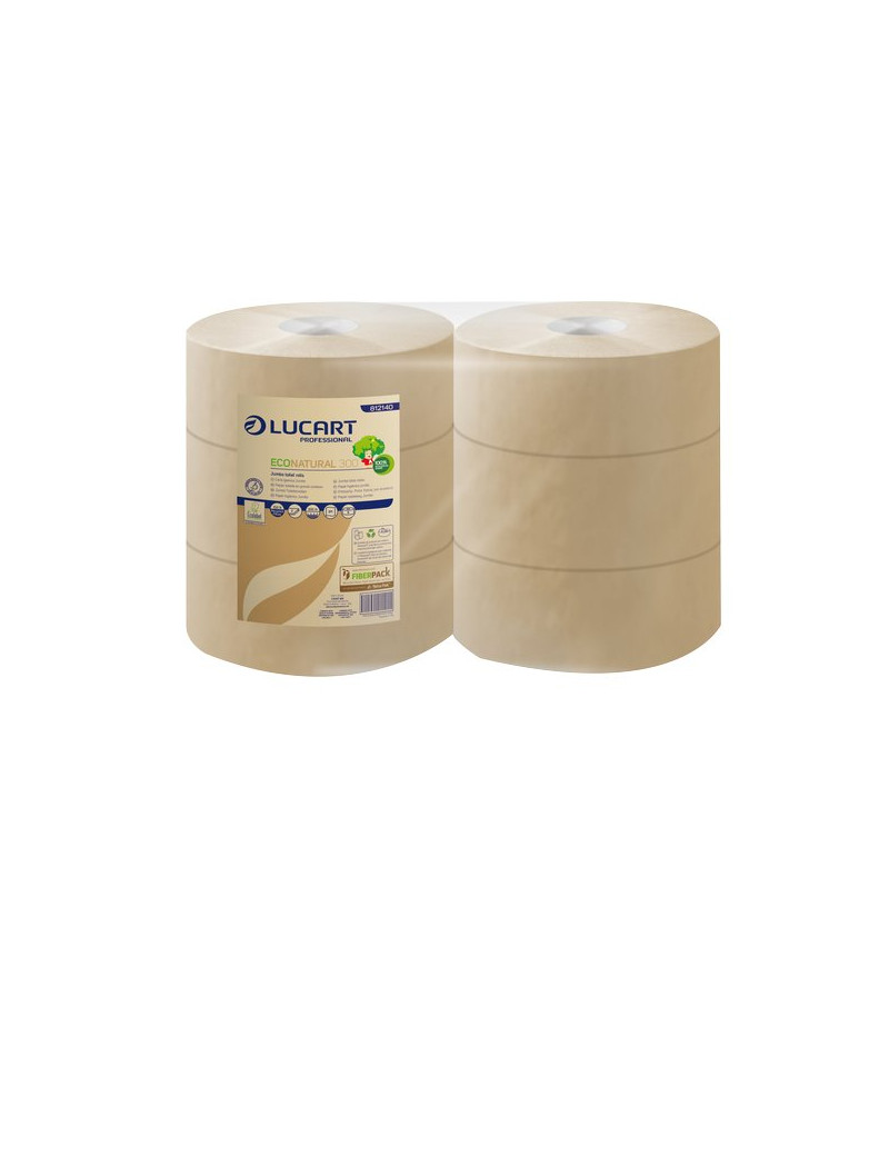 Eco Natural Lucart - Maxi Jumbo - 2 - H 9,8xØ 24,5 cm (Conf. 6)