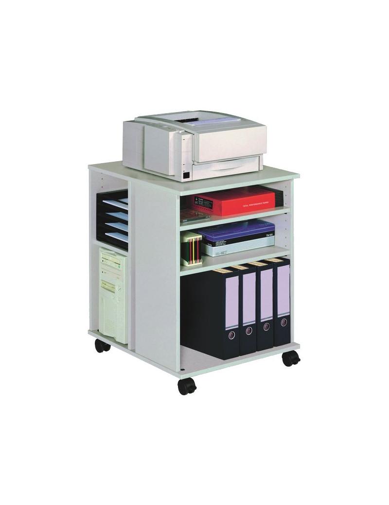 Mobiletto Multifunzione Aperto Durable - 52,8x74,8x59,2 cm - Grigio