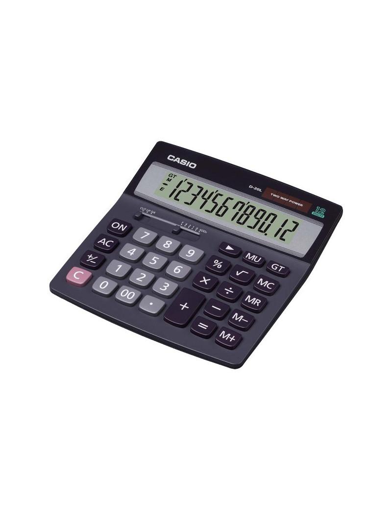 Calcolatrice da Tavolo Casio D-20L DH-12BK (Grigio Scuro)