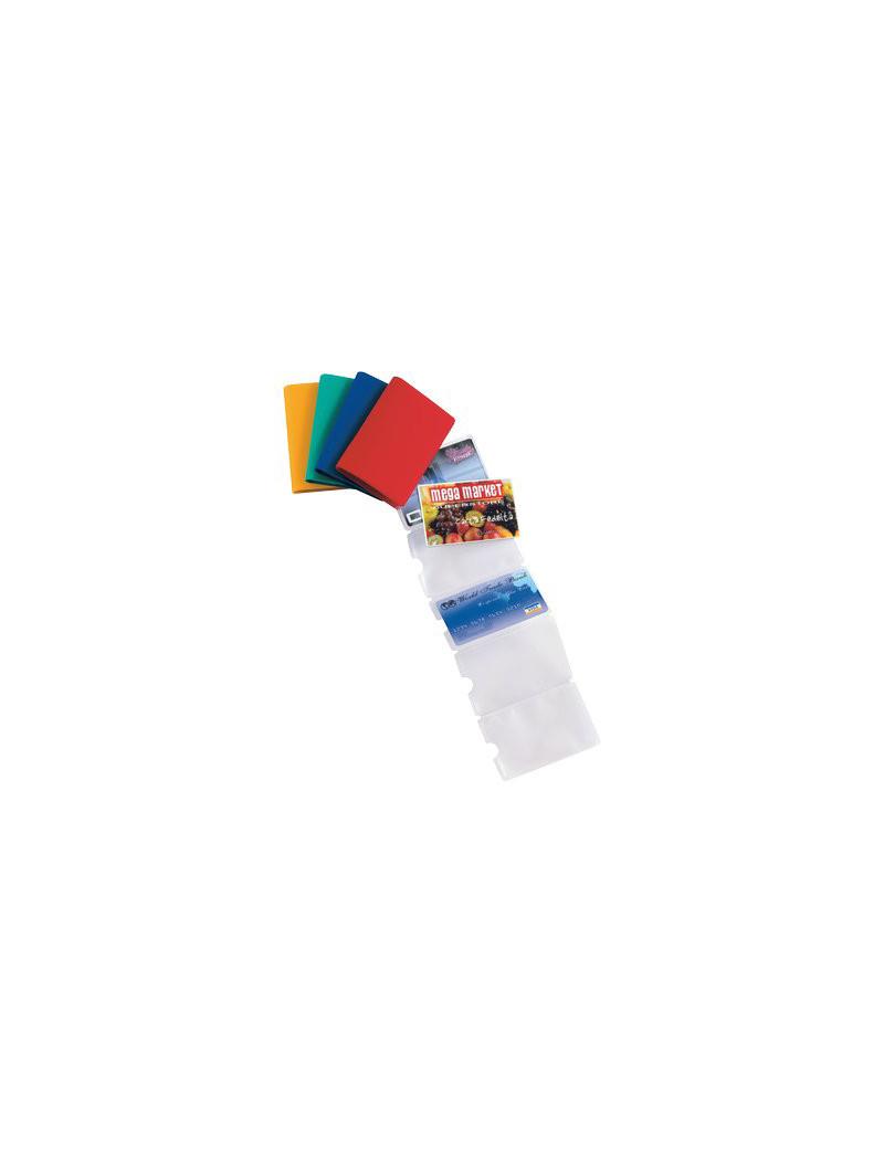 Buste Porta Carte di Credito Sei Rota - 6 Tasche (Assortiti Conf. 5)