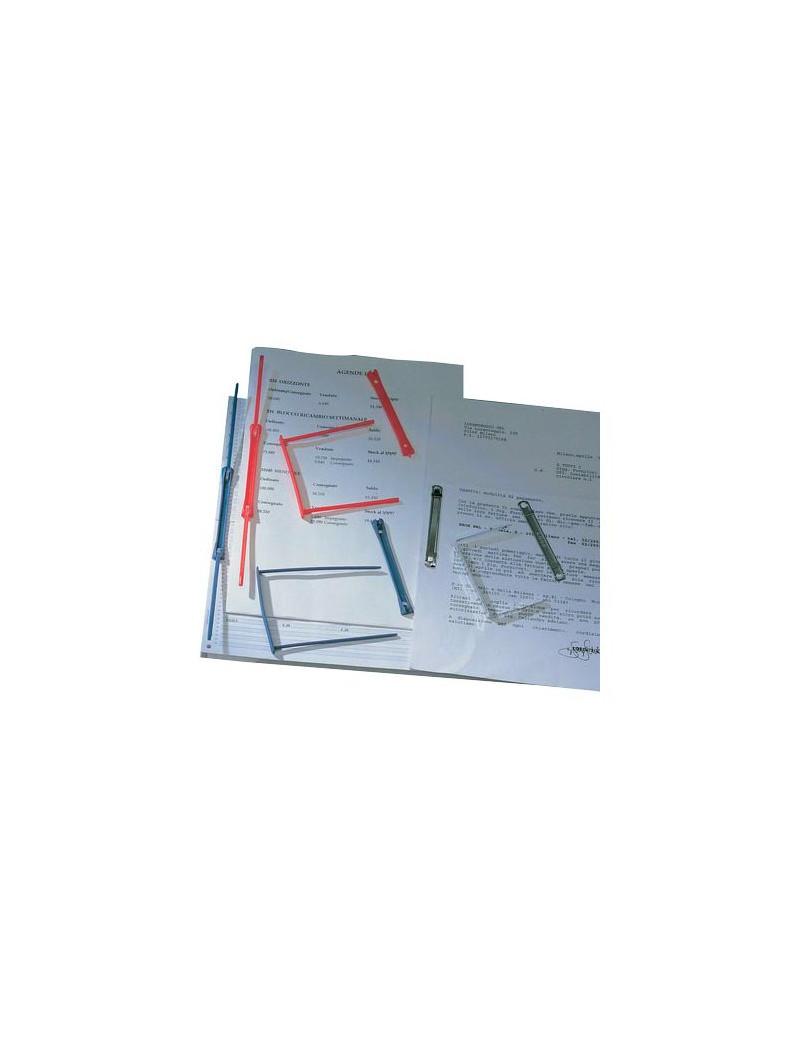 Fermagli in Plastica Data Clip King Mec - 000965E (Blu Conf. 100)