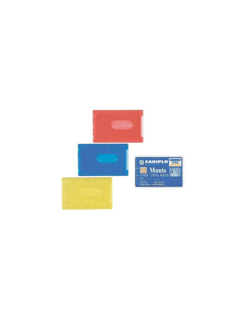 Portacards Rigido Favorit - Semitrasparente Assortito - 8,5x5,4 cm (Conf. 100)