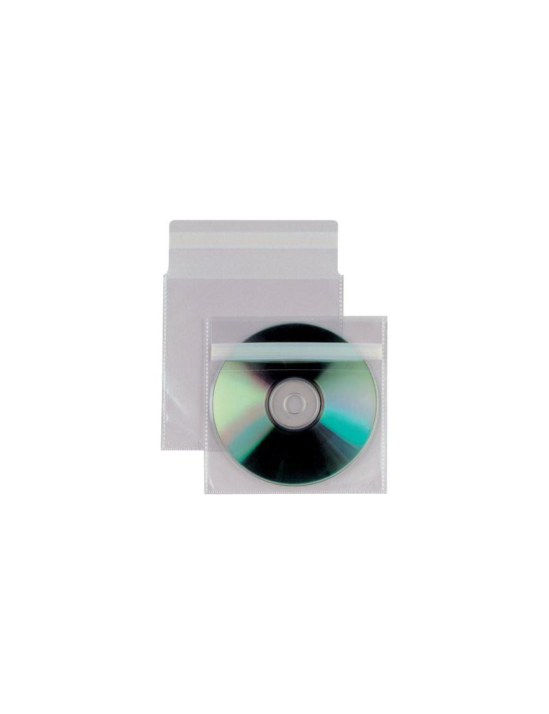 Busta Porta CD/DVD Insert Sei Rota - Con Patella Adesiva - 430103 (Trasparente Conf. 25)