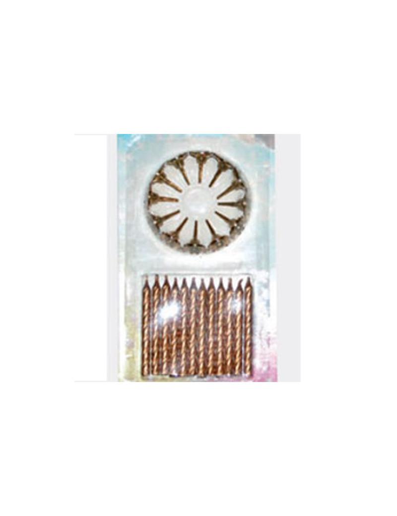 Candeline per Torta - Oro (Conf. 12)