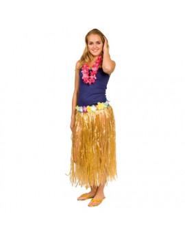 Gonna Hawaiana Adulto Lunga con Fiori