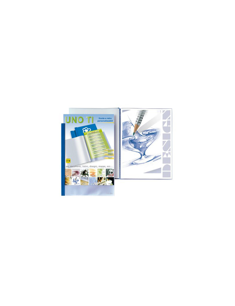 Album Personalizzabili Uno TI Sei Rota - 30x42 cm - 55313607 (Blu 36 Buste)