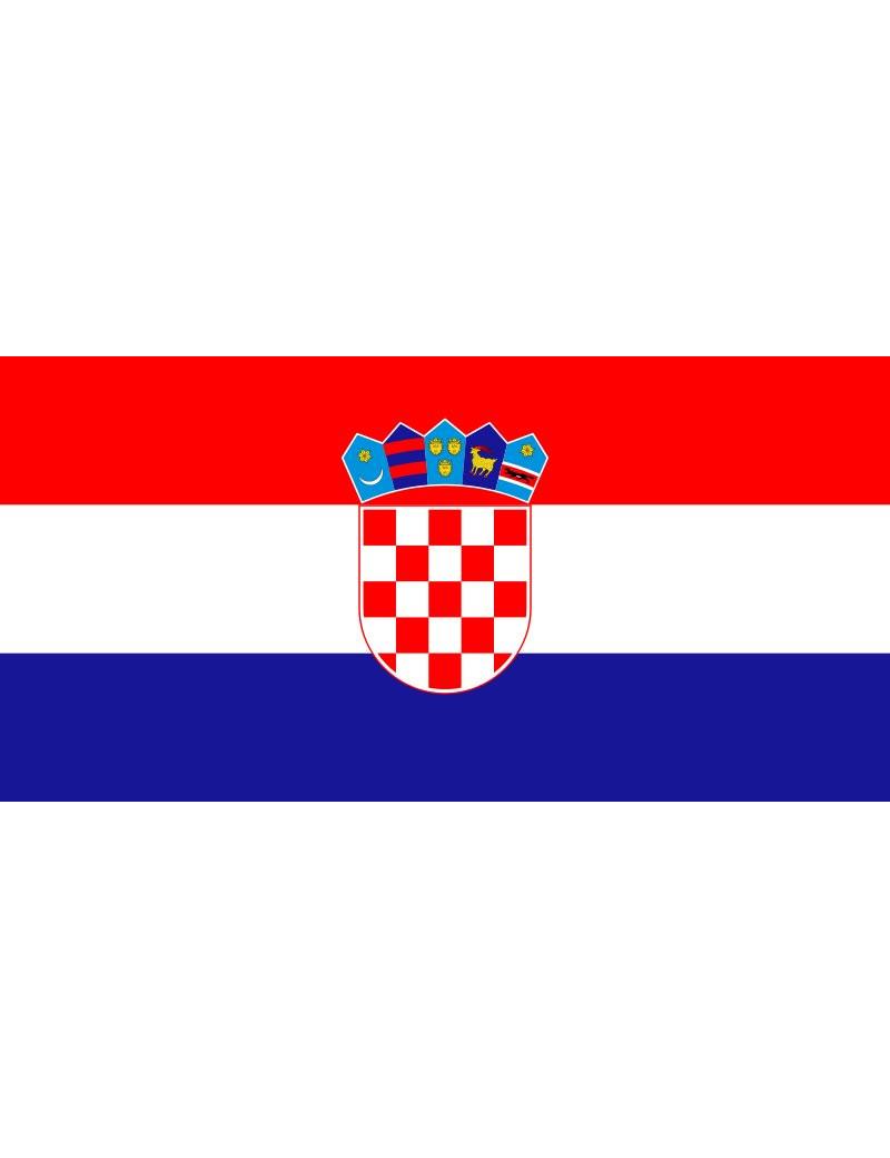 Bandiera - Croazia - 30x20 cm