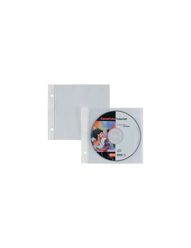 Busta Porta CD/DVD per Album Porta CD/DVD Disco 25 Sei Rota - 662507 (Trasparente Conf. 25)