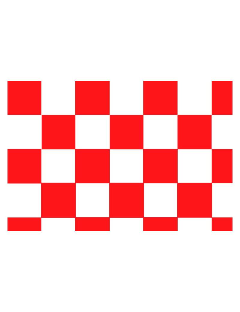 Bandiera - Bianco/Rosso - 150x90 cm - A Scacchi