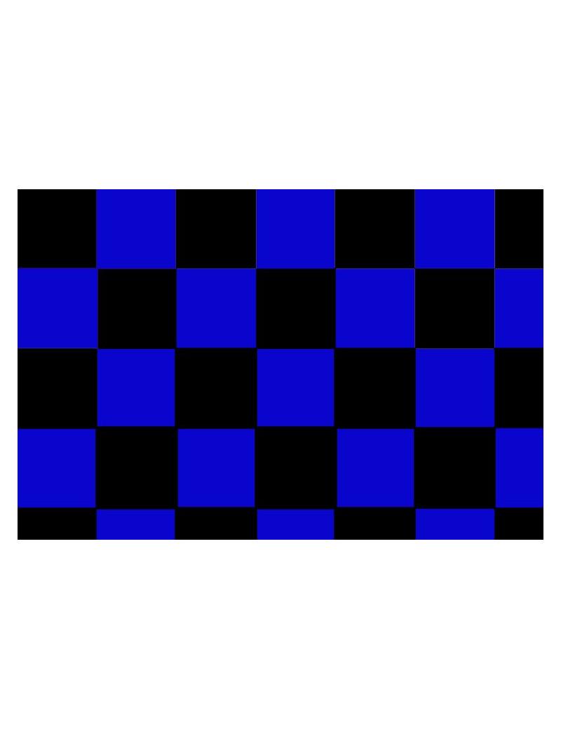 Bandiera - Nero/Azzurro - 150x90 cm - A Scacchi