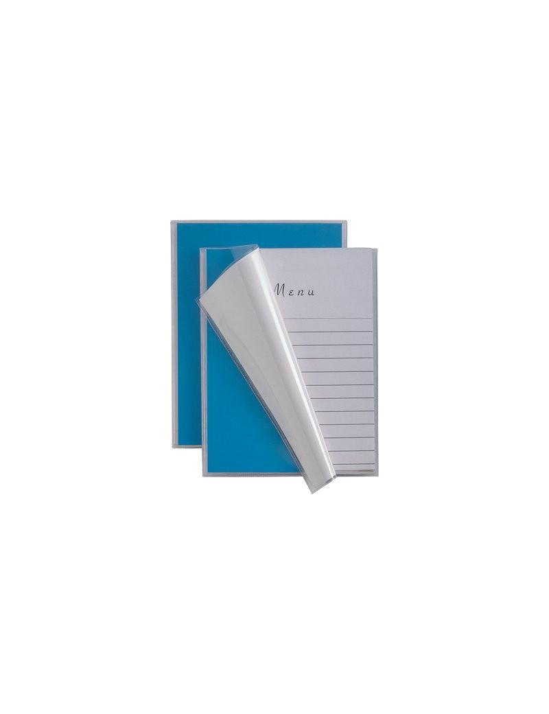 Portamenù Personalizzabili Menu TI Sei Rota - 12x32 cm - 4 Buste (Blu)