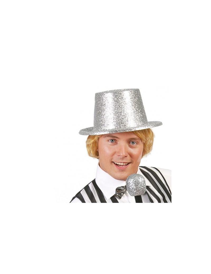 Cappello a Cilindro - Glitter Argento