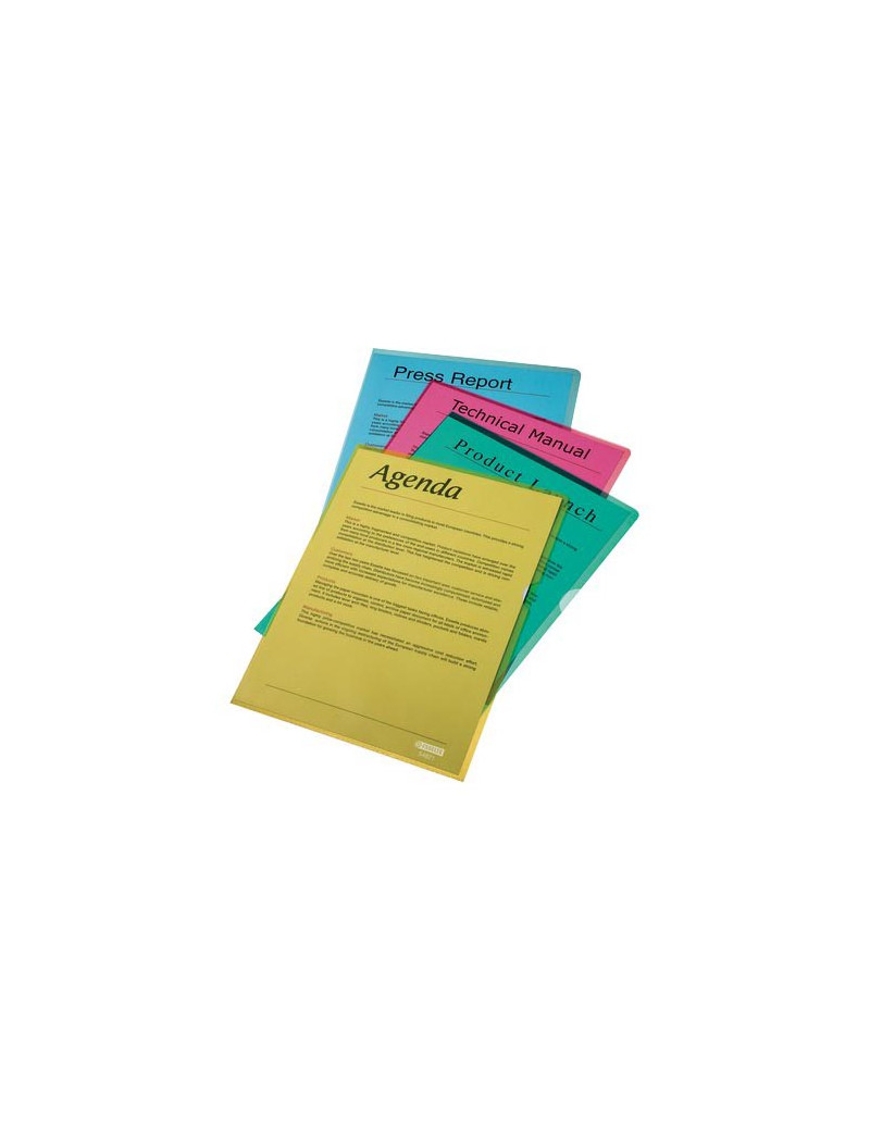 Busta a L Crystal Esselte - A4 - PVC (Verde Smeraldo Conf. 25)