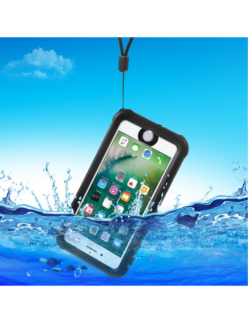 "Cover RedPepper Impermeabile Waterproof Anti Urto Anti-Shock per iPhone 7 4,7"" (Nero)"