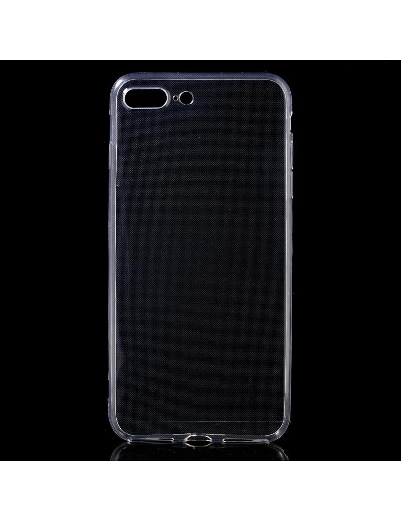 """Cover in Silicone Morbido per iPhone 7 Plus 5,5"""" (Trasparente)"""