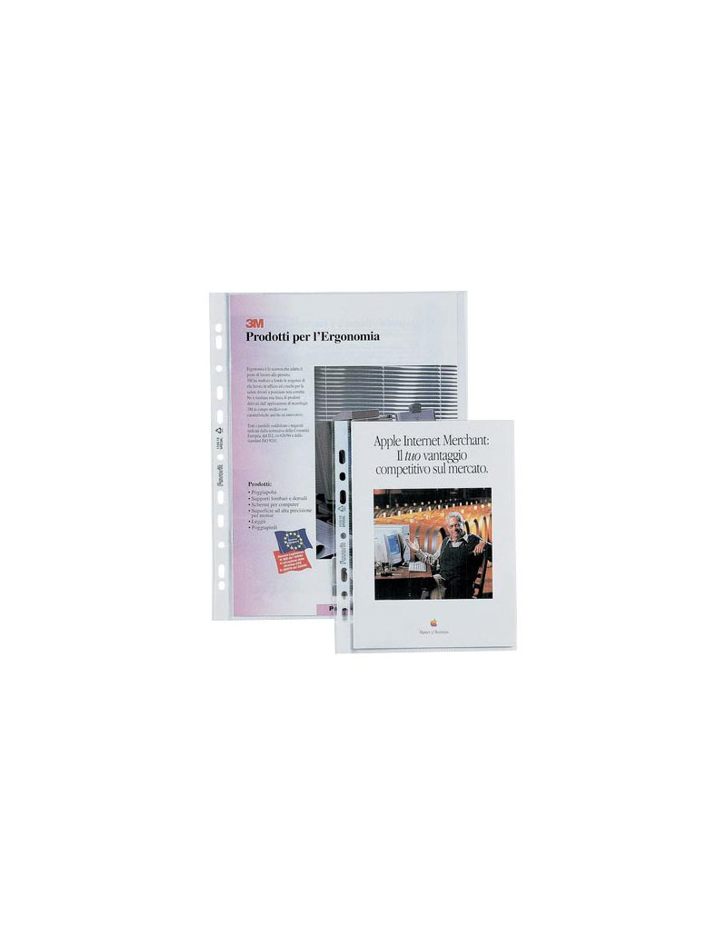 Busta a Perforazione Universale Air-Special Favorit - 22x30 cm - Superior Goffrata - 100460122 (Trasparente Conf. 50)