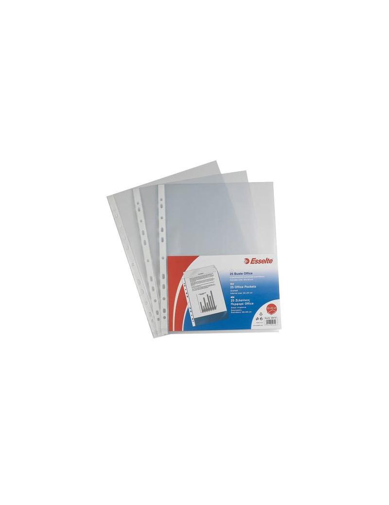 Busta a Perforazione Universale Copy Safe Esselte Deluxe - 22x30 cm - Liscia Alto Spessore - 395097600 (Trasparente Conf. 50)