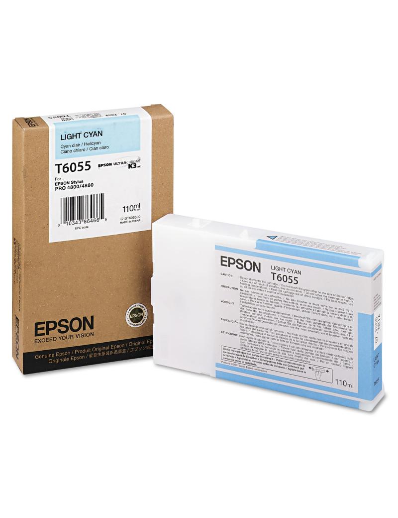 Cartuccia Originale Epson T605500 (Ciano Chiaro 110 ml)