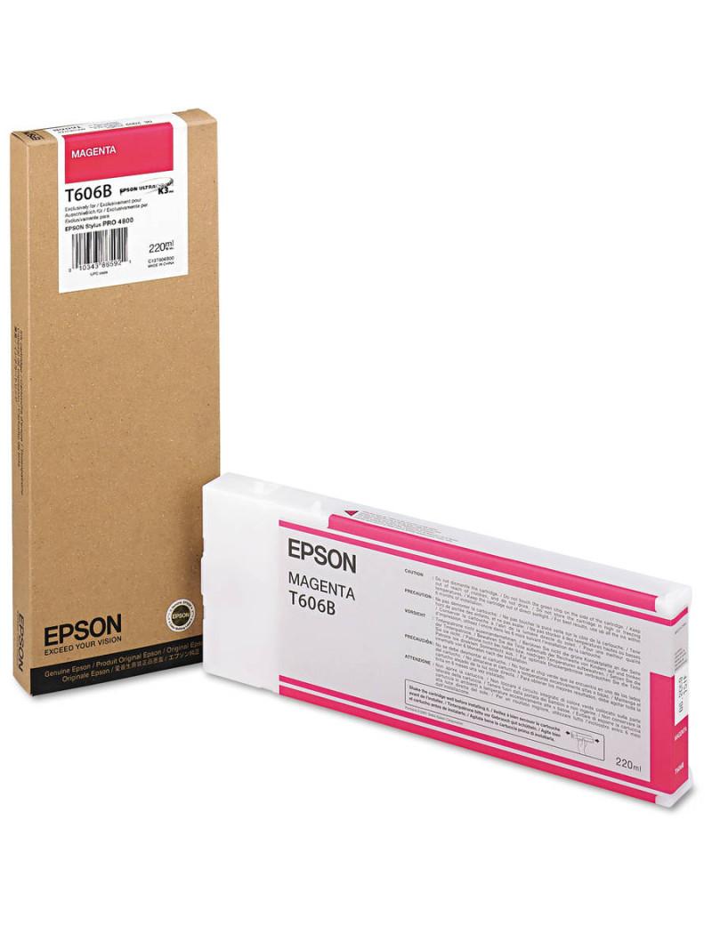 Cartuccia Originale Epson T606B00 (Magenta 220 ml)