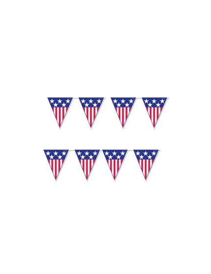 Festone PVC Bandierine America - 5 m
