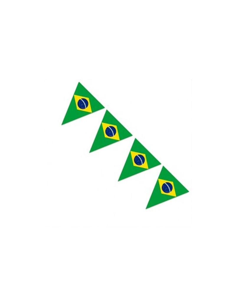 Festone PVC Bandierine Brasile - 5 m