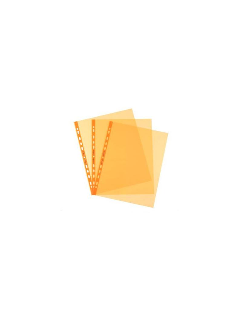 Busta a Perforazione Universale Favorit Art - 22x30 cm - Liscia Alto Spessore - 100206798 (Arancio Conf. 25)