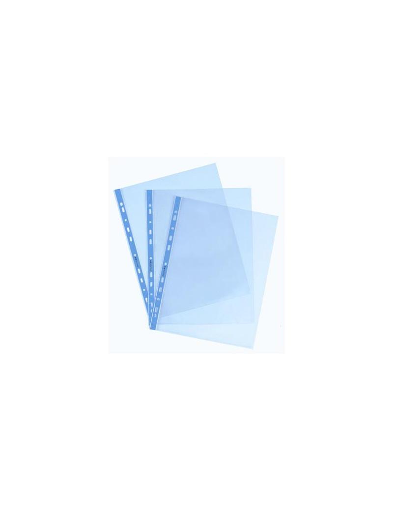 Busta a Foratura Universale Favorit Art - 22x30 cm - Liscia Alto Spessore - 22x30 cm - 100206797 (Azzurro Conf. 25)