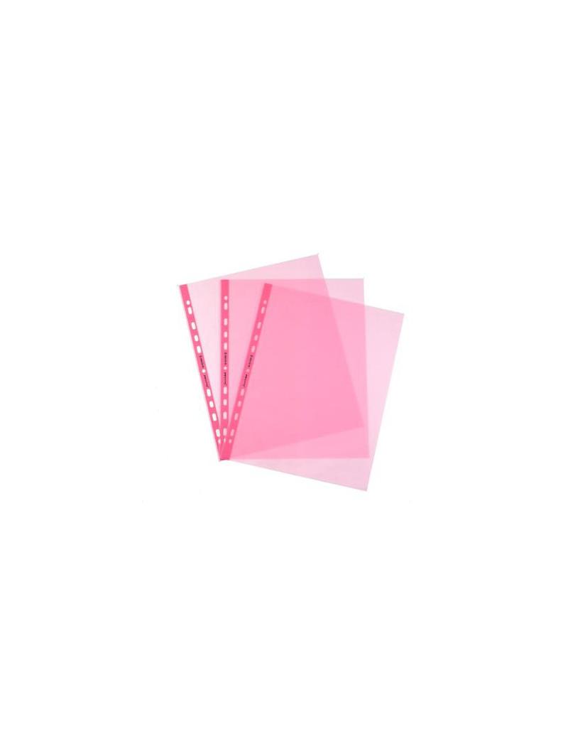 Busta a Perforazione Universale Favorit Art - 22x30 cm - Liscia Alto Spessore - 100206799 (Rosa Conf. 25)
