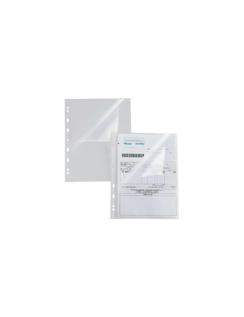 Busta a L a Perforazione Universale Atla A Sei Rota - 22x30 cm - Goffrata Alto Spessore - 662216 (Trasparente Conf. 25)