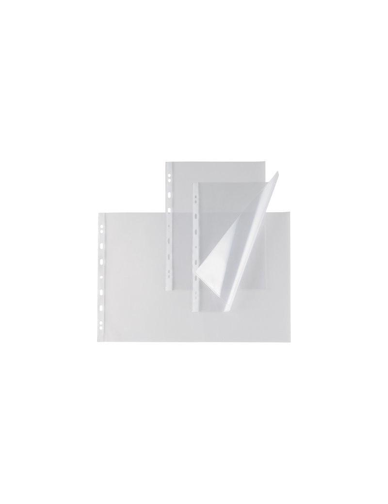 Busta a Perforazione Universale Atla T Sei Rota - 25x35 cm - Liscia Alto Spessore - 662515 (Trasparente Conf. 10)