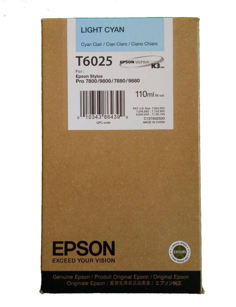 Cartuccia Originale Epson T602500 (Ciano Chiaro 110 ml)