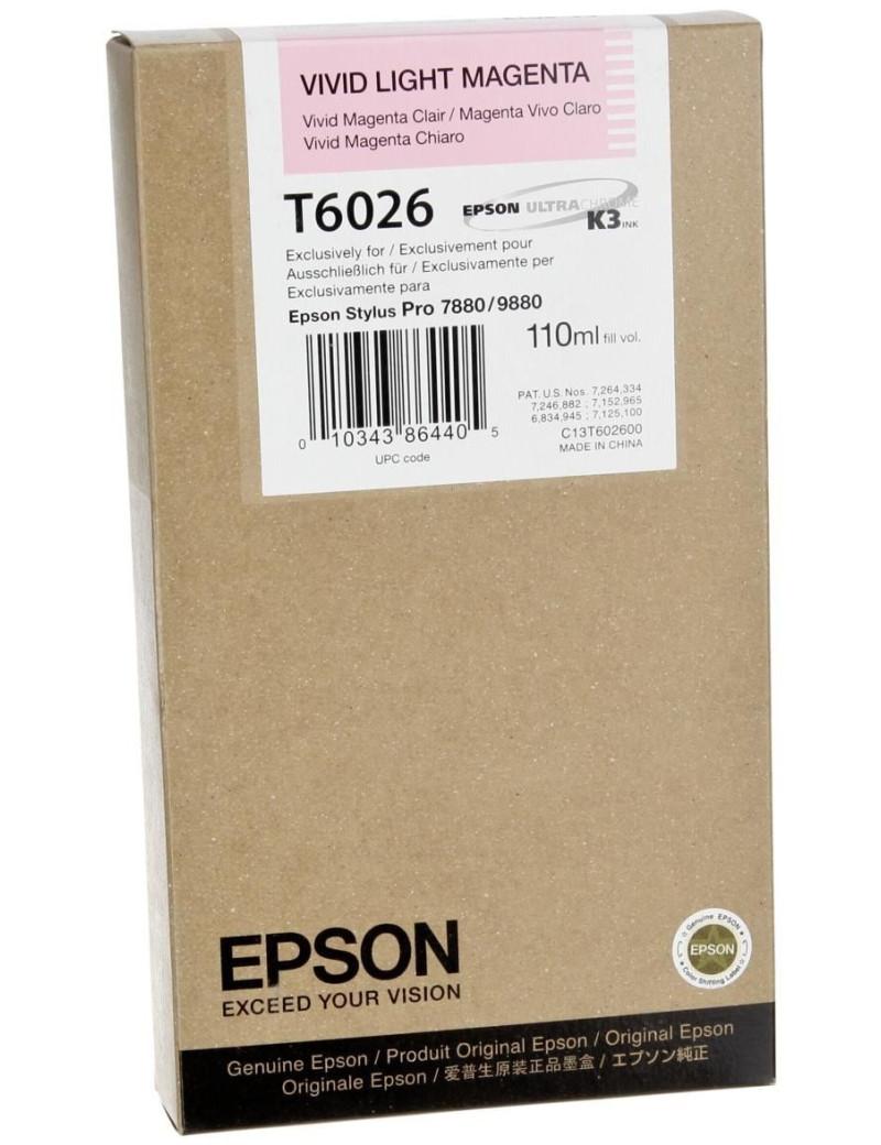 Cartuccia Originale Epson T602600 (Magenta Chiaro 110 ml)