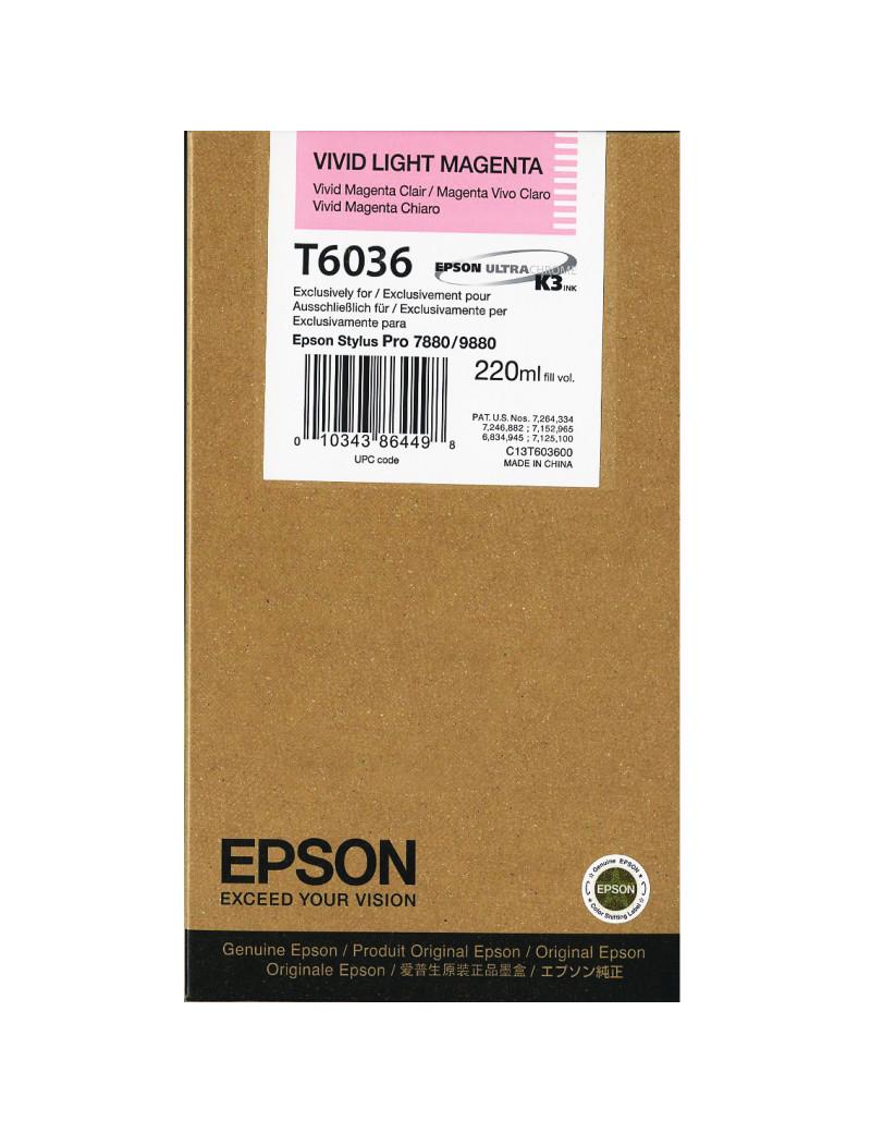 Cartuccia Originale Epson T603600 (Magenta Chiaro 220 ml)