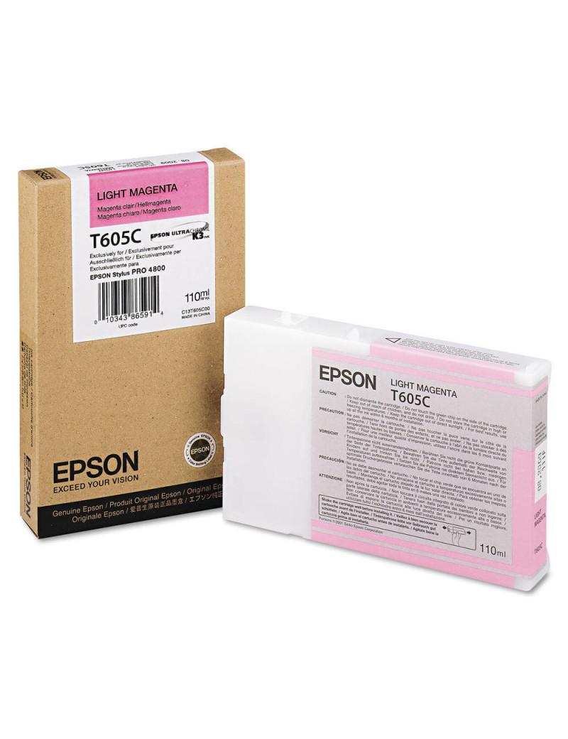 Cartuccia Originale Epson T605C00 (Magenta Chiaro 110 ml)
