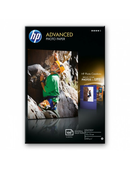 Carta Fotografica HP Advanced Hewlett Packard - Lucida senza Bordi - 10x15 cm - 250 g (Conf. 100)