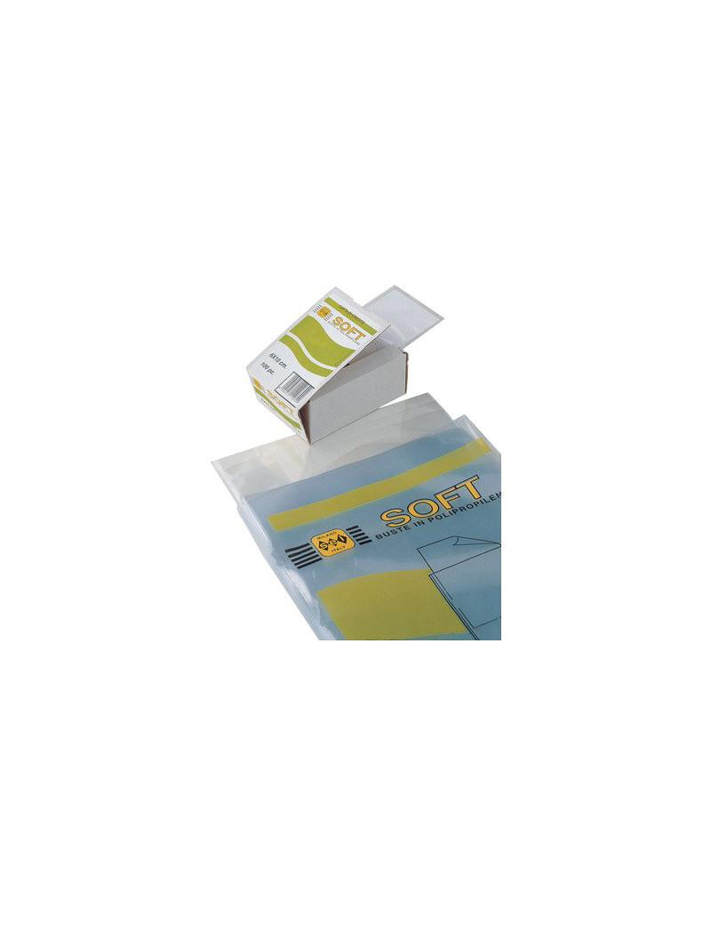 Busta Soft Sei Rota - 7,5x11 cm - 650711 (Trasparente Conf. 100)