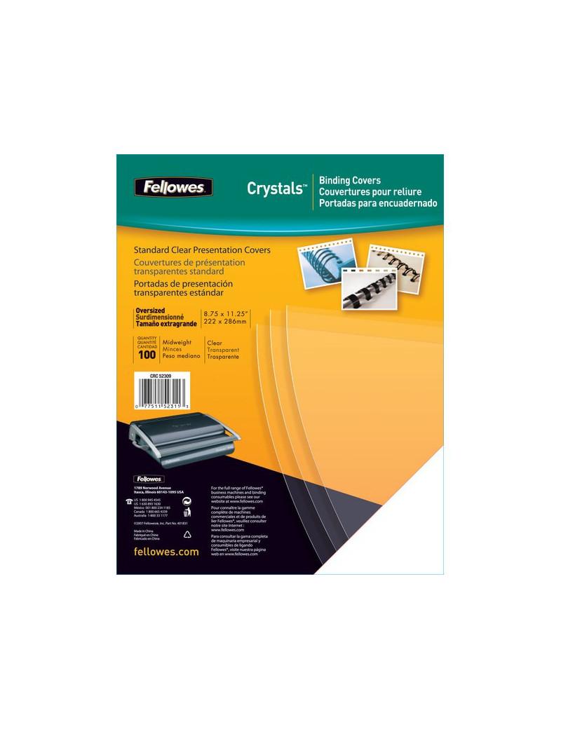 Copertina in PVC per Rilegatura Fellowes - A4 - 180 my - Trasparente (Conf. 100)