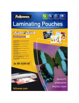 Pouches SuperQuick Fellowes - 80 Micron (Conf. 100)