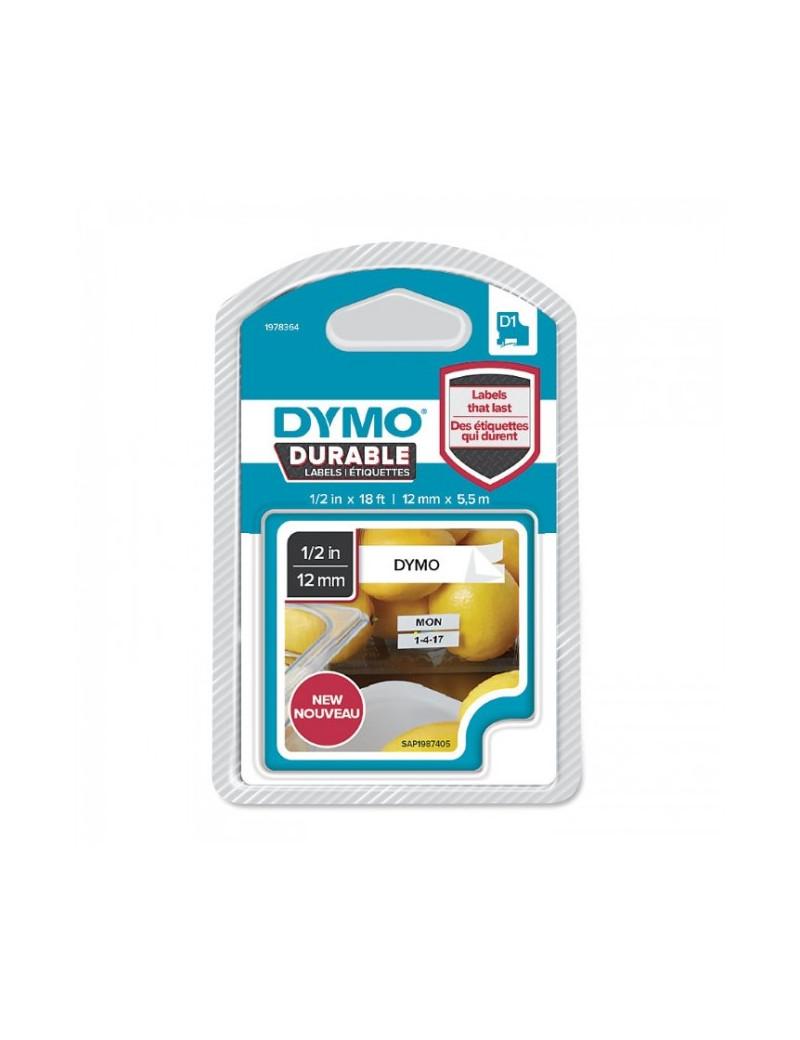 Etichette Dymo D1 Durable Dymo - 12 mm x 5,5 m - Nero/Bianco