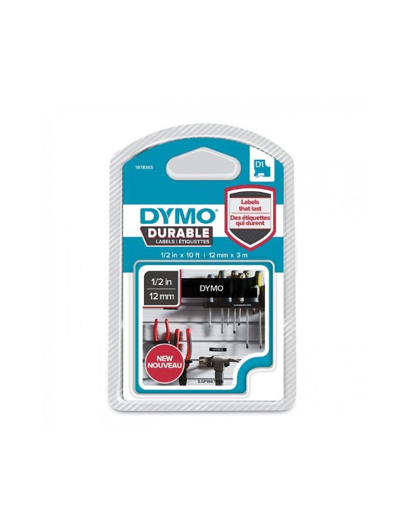 Etichette Dymo D1 Durable Dymo - 12 mm x 3 m - Bianco su Nero