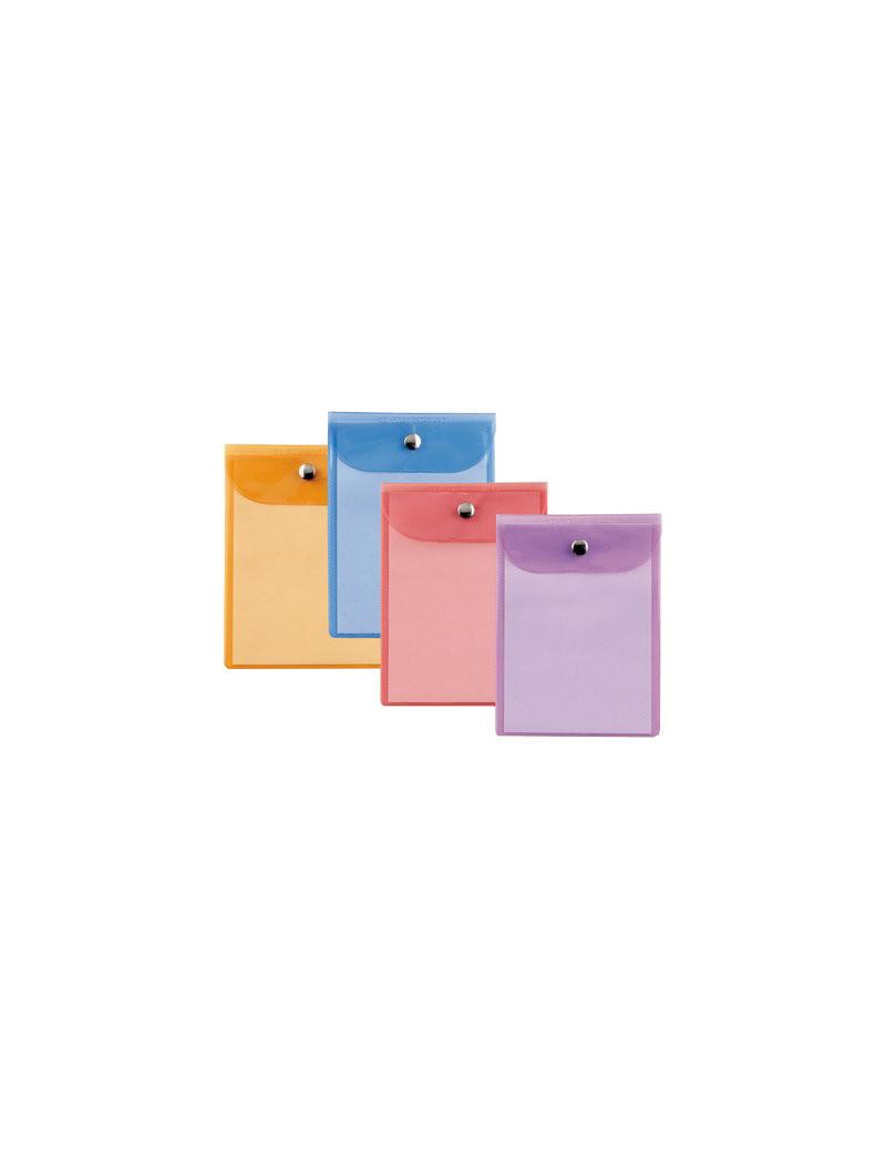 Busta con Bottone in Metallo Press 7 Color Sei Rota - 18x24 cm - 42182499 (Assortiti Conf. 40)