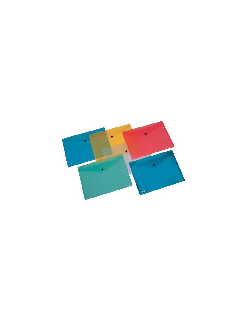 Busta con Bottone Pull King Mec - A4 - PPL - 00111316 (Azzurro Conf. 5)