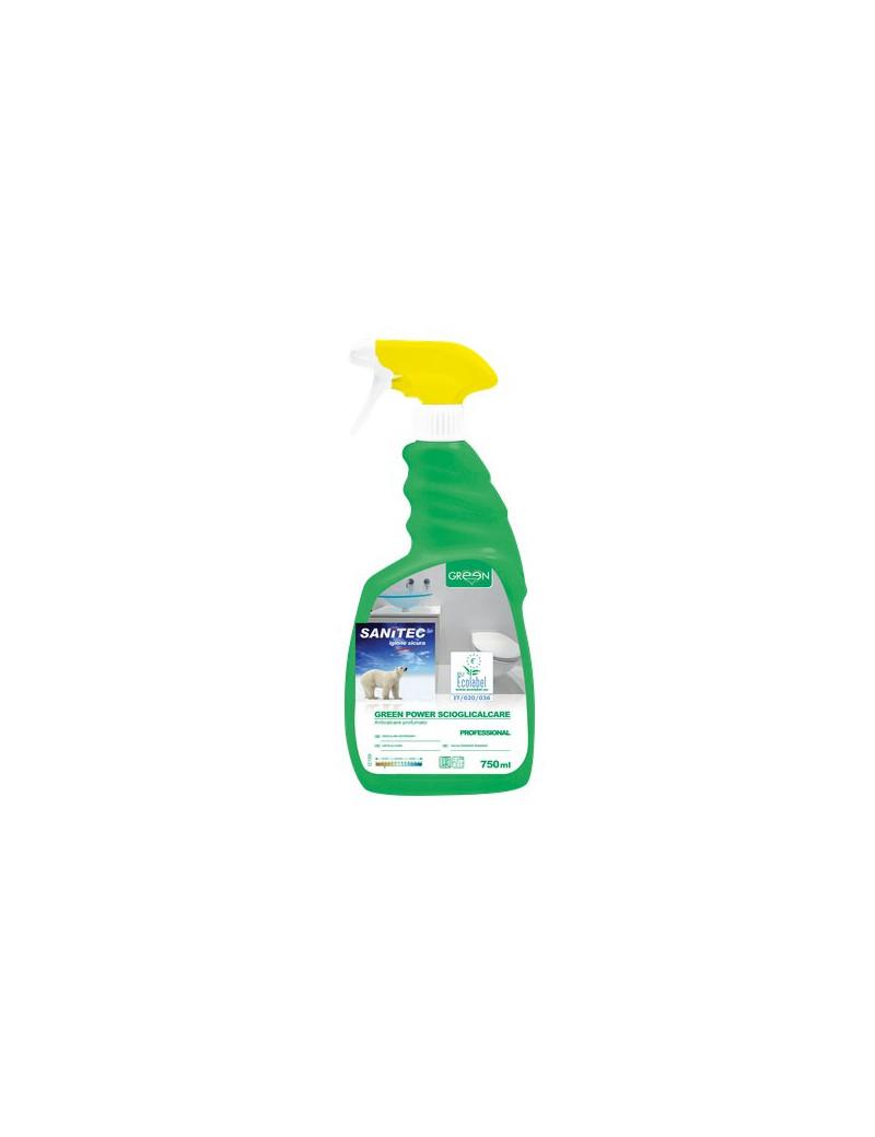 Detergente Ecologico Sciogli Calcare per Bagni Sanitec - 750 ml (Conf. 6)