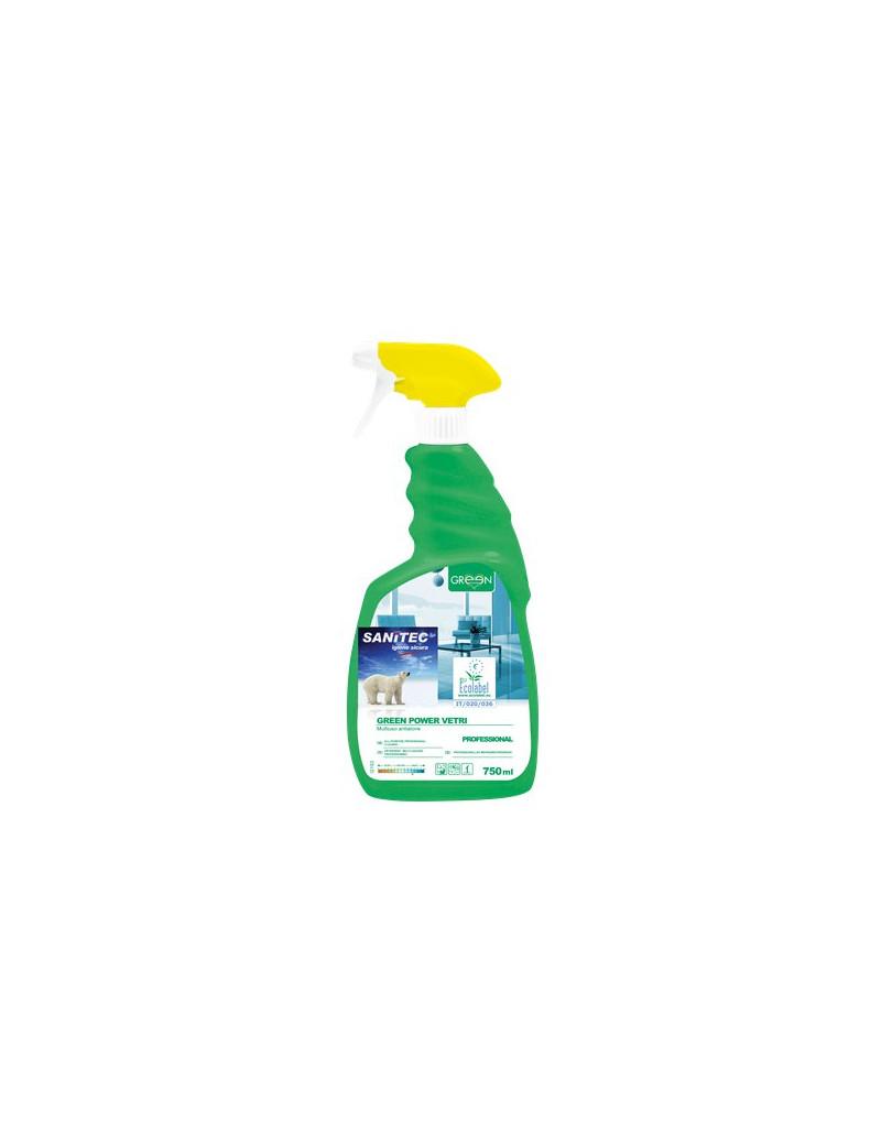 Detergente Ecologico per Vetri Specchi e Superfici Sanitec - 750 ml (Conf. 6)