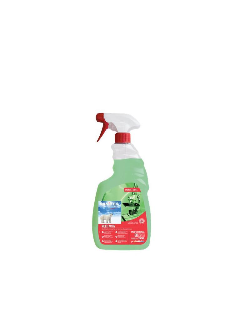 Detergente Disinfettante Inodore Multi Activ Sanitec - 750 ml (Conf. 6)