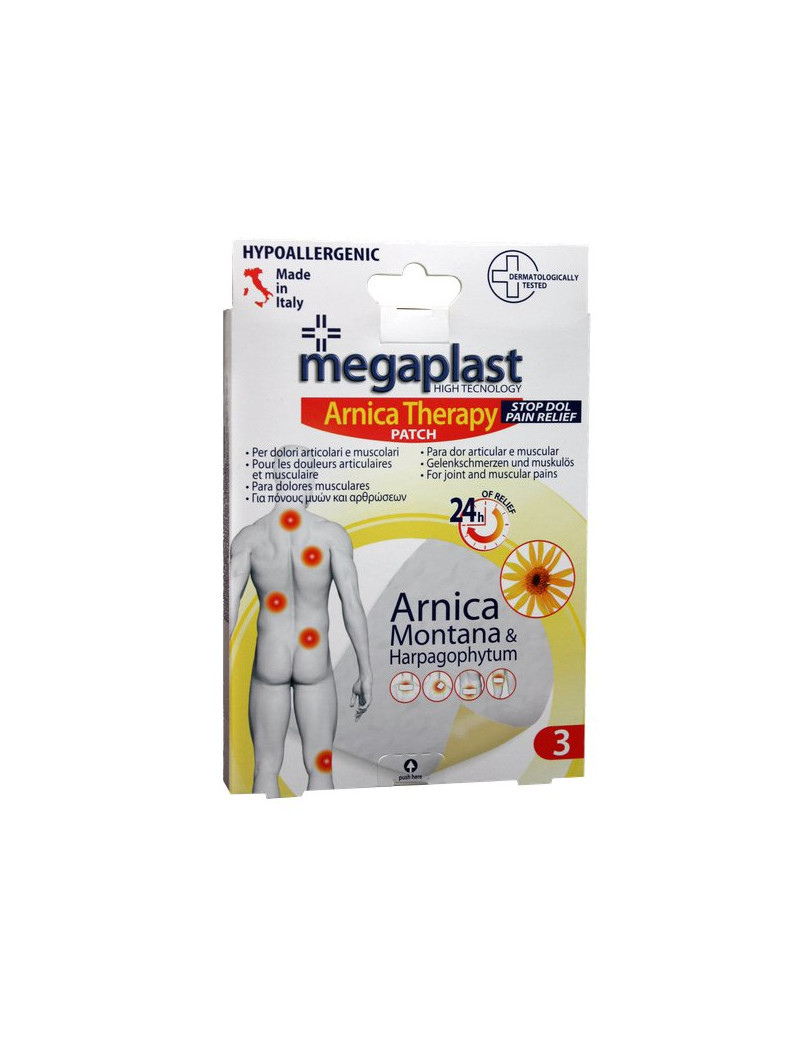 Cerotto per Dolori Articolari e Muscolari Arnica Megaplast PVS (Conf. 3)